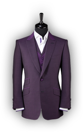 purple suit with shirt