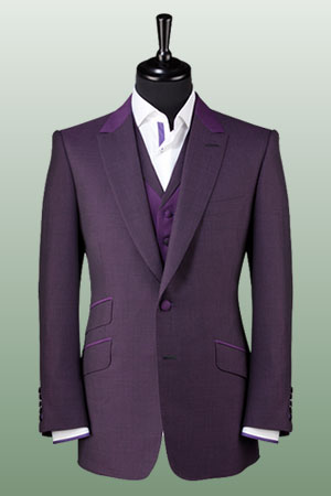 purple suit and link to bespoke suits