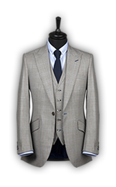 grey stripped suit