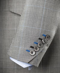 sleeve and buttons of a bespoke suit